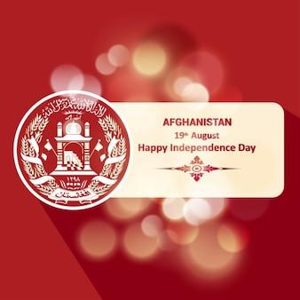 Страна символ баннер афганистан светящийся фон
