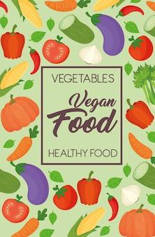 野菜バナー、健康コンセプト、ビーガンフード