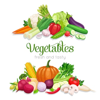 Banner with  vegetables.