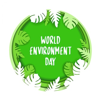 Banner of world environment day.