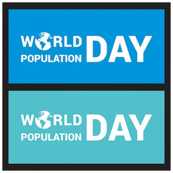 Banner for world population day