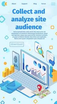 Banner written collect and analyze site audience.