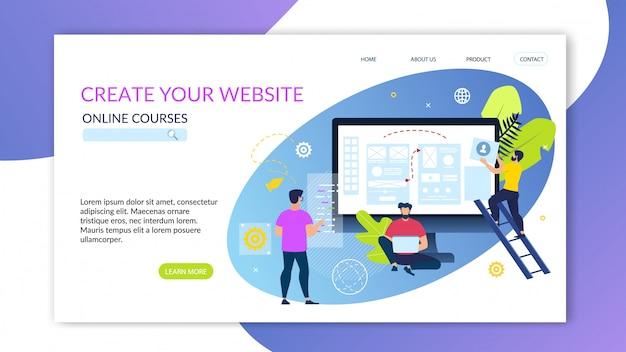 Bannerあなたのウェブサイトのオンラインコースを作成します。