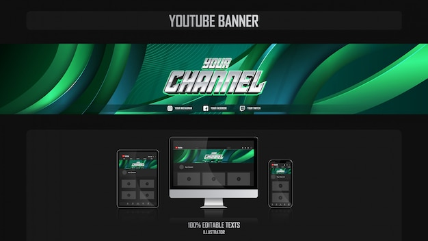 Banner for youtube channel with crossfit concept