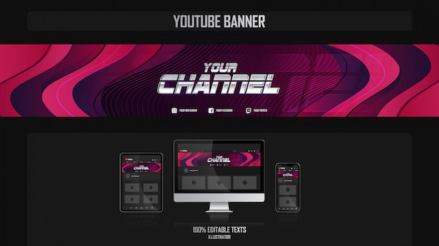 Banner for youtube channel with dance concept