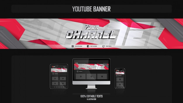 Banner for youtube channel with fantasy concept