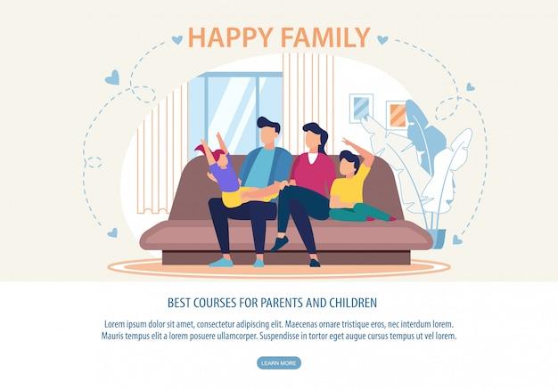 Banner лучшие курсы для родителей и детей веб-шаблон