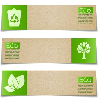 Banners about the environment
