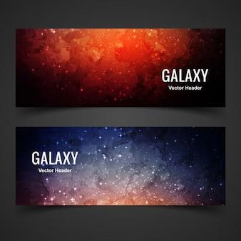 カラフルな銀河バナー