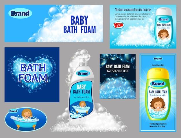 Banners bottle of bath foam for children
