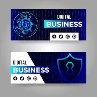 Banners designs concept