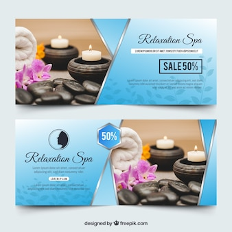 Banners for the spa with a photo