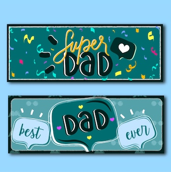 Banners happy fathers day