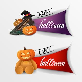 Banners happy halloween