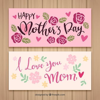 Banners happy mother's day i love you mom