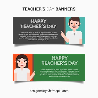 Banners of happy teacher's day