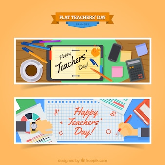 Banners for a happy teacher's day