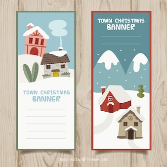 Banners of snowy houses