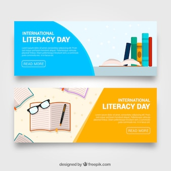 Banners of the international literacy day