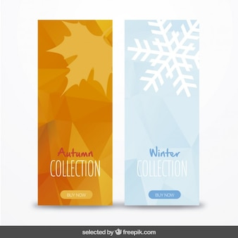 Banners pack of autumn and winter