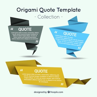 Banners of paper to write quotes