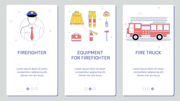 Banners for the phone, fire equipment
