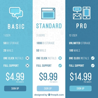 Banners set of different plans for web