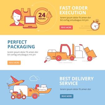 物流と配送のビジネステーマに設定されたバナー
