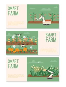 Banners set of smart farm concept