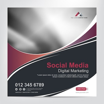 Banners for social media post template
