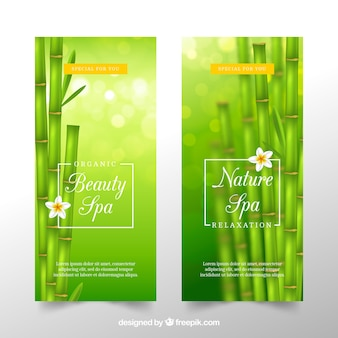 Banner per la spa in design realistico