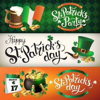 Banners st patrick day