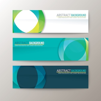 Banners template with abstract circle shape pattern