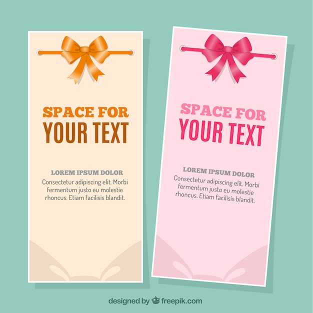 Banners template with ribbons