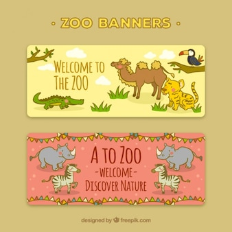 Banners to visit the zoo