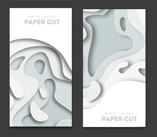 Banners with 3d abstract background