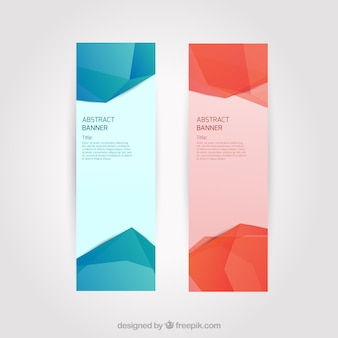 Banners with abstract polygons