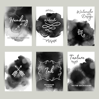 Banners with black ink