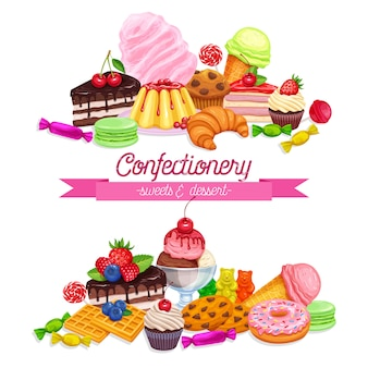 Banners with confectionery