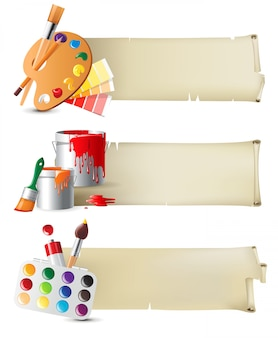 Banners with drawing tools
