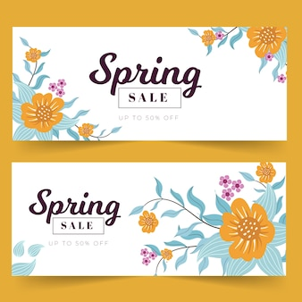 Banners with flat spring elements