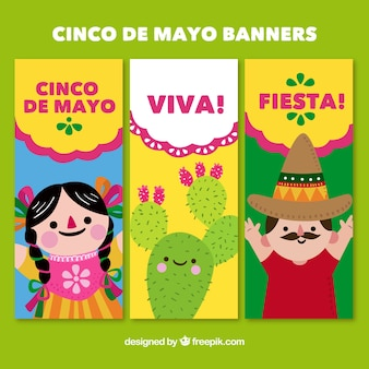 Banners with friendly characters from may 5th