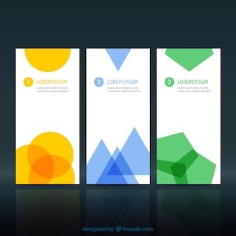 Баннеры с геометрическими фигурами