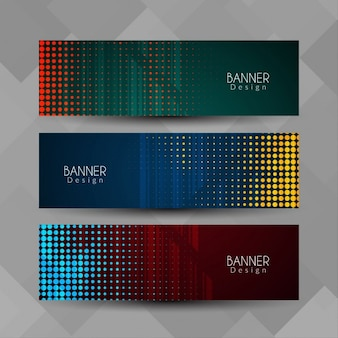 Banners with halftone dots