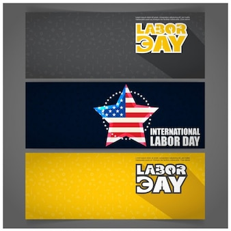Banners with labor day subject