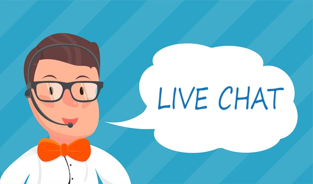 Banners with live chat support managers