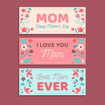 Banners with mothers day concept