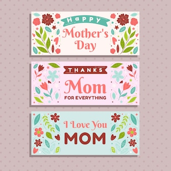 Banners with mothers day theme