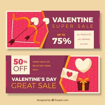 Striscioni con offerte speciali per san valentino