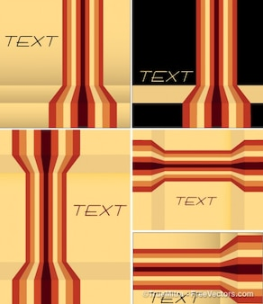 Banners with stripes vector background